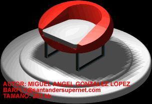 Planos de Silla egg, en Sillas 3d – Muebles equipamiento