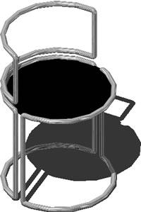 imagen Silla gae aulenti 3d, en Sillas 3d - Muebles equipamiento