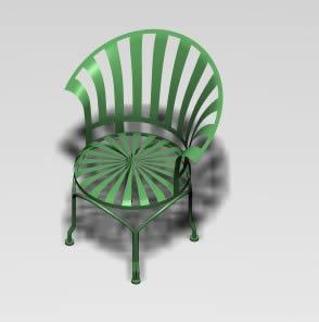 Silla individual para jardin, en Sillones 3d – Muebles equipamiento