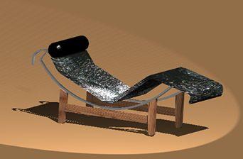imagen Silla le corbusier, en Sillas 3d - Muebles equipamiento
