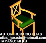 Planos de Silla madera, en Sillas 3d – Muebles equipamiento