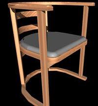 imagen Silla madera, en Sillas 3d - Muebles equipamiento