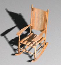 Silla mecedora 3d, en Sillas 3d – Muebles equipamiento