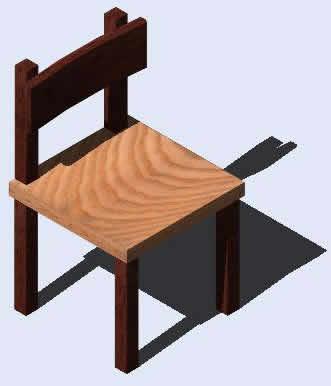 imagen Silla nino 3d, en Jardín de infantes - Muebles equipamiento