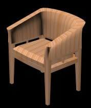 imagen Silla  tapizada 3d, en Sillas 3d - Muebles equipamiento