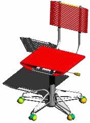 imagen Silla tramo de revista, en Sillas 3d - Muebles equipamiento