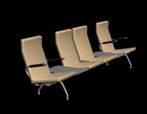 Planos de Sillas de espera 3ds, en Sillas 3d – Muebles equipamiento