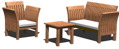 Planos de Sillas de jardin 3d, en Sillones 3d – Muebles equipamiento