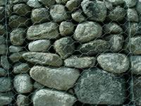 imagen Sillerias - textura de piedra en gavion, en Piedra - Texturas