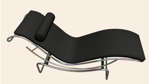 Sillo le corbu 3d, en Sillones 3d – Muebles equipamiento