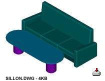 Planos de Sillon 039, en Sillones 3d – Muebles equipamiento