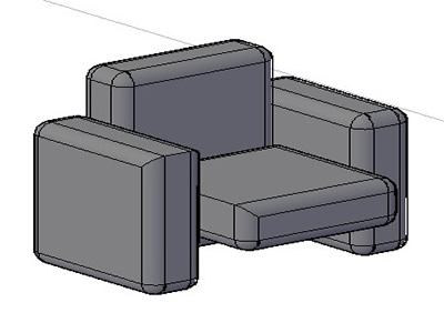 imagen Sillon 3d, en Butacas - Muebles equipamiento