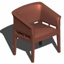 imagen Sillón 3d, en Sillas 3d - Muebles equipamiento