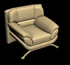 Sillón 3d, en Sillones 3d – Muebles equipamiento
