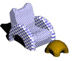 imagen Sillón con apoya pies, en Sillones 3d - Muebles equipamiento