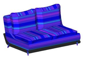 Sillón de 2 plazas 3d, en Sillones 3d – Muebles equipamiento