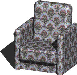 Planos de Sillon de descanso 3d, en Sillones 3d – Muebles equipamiento