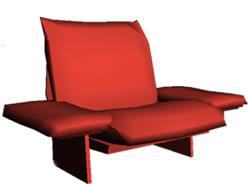 imagen Sillón de un cuerpo con apoya brazos - 3d, en Sillones 3d - Muebles equipamiento