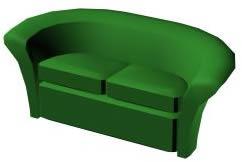 imagen Sillón doble 3d, en Sillones 3d - Muebles equipamiento