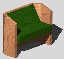 imagen Sillón dos cuerpos 3d, en Sillones 3d - Muebles equipamiento