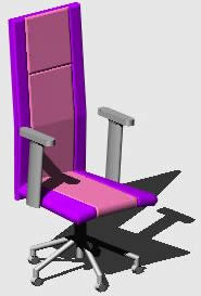 Planos de Sillon ejecutivo, en Sillas 3d – Muebles equipamiento