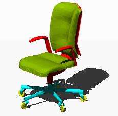 Planos de Sillón ejecutivo, en Sillas 3d – Muebles equipamiento