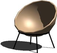 Planos de Sillón – huevo, en Sillones 3d – Muebles equipamiento
