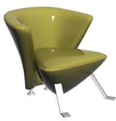 imagen Sillón individual 3d, en Sillones 3d - Muebles equipamiento