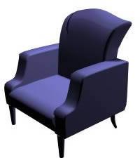 Sillón individual 3d, en Sillones 3d – Muebles equipamiento