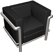 imagen Sillon le corbu2 3d, en Sillones 3d - Muebles equipamiento