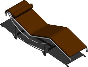 imagen Sillón le corbusier 3d, en Sillones 3d - Muebles equipamiento