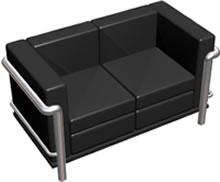 Sillon le corbusier  3d, en Sillones 3d – Muebles equipamiento
