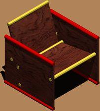 imagen Sillon madera, en Sillones 3d - Muebles equipamiento
