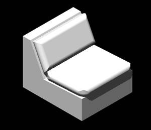 Planos de Sillon modular, en Sillones 3d – Muebles equipamiento