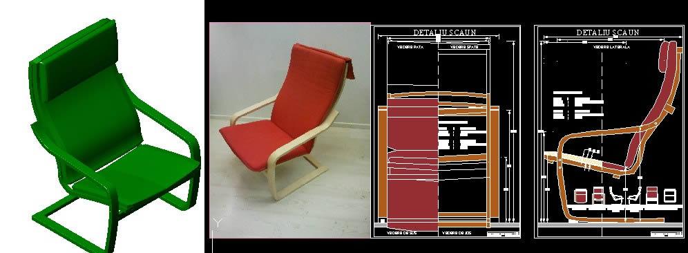 imagen Sillon poang, en Sillas 3d - Muebles equipamiento