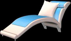 Sillón reposera 3d, en Sillones 3d – Muebles equipamiento