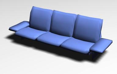 Sillón triple 3d, en Sillas 3d – Muebles equipamiento