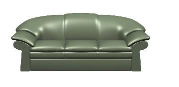 Sillon triple, en Sillones 3d – Muebles equipamiento