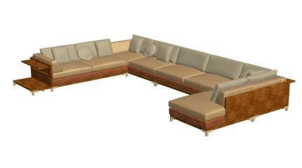imagen Sillon vitania, en Sillas 3d - Muebles equipamiento