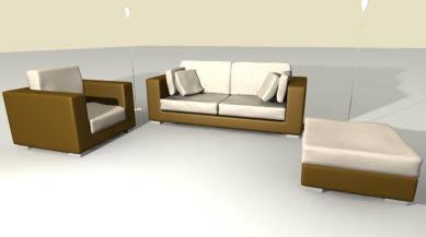 Sillones 3d, en Muebles varios – Muebles equipamiento