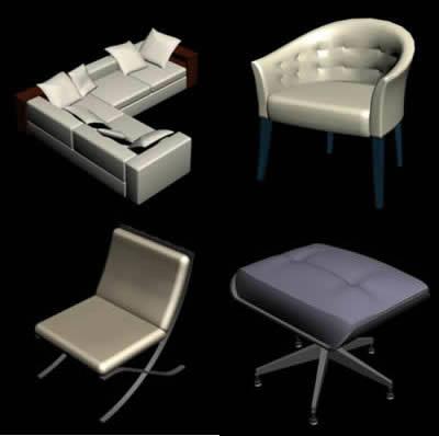 imagen Sillones de diseño, en Sillones 3d - Muebles equipamiento