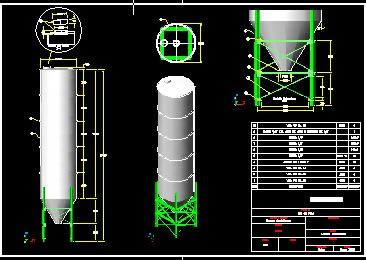 imagen Silo de yes, en Maquinaria - proyectos varios - Máquinas instalaciones