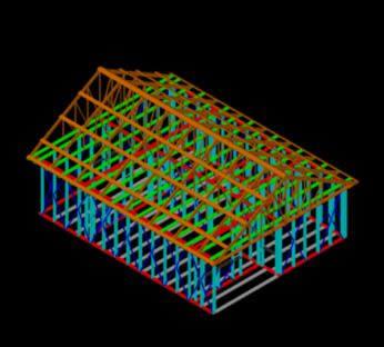 imagen Sistema constructivo acero 3d, en Steel framing - Sistemas constructivos