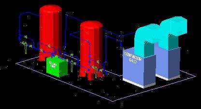 imagen Sistema de aire comprimido, en Maquinaria - proyectos varios - Máquinas instalaciones
