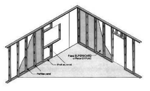 imagen Sistema de construccion en seco - gyplac, en Tabiquería de yeso pladur - durlock o similar - Sistemas constructivos