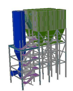 imagen Sistema depuracion de gases 3d, en Maquinaria e instalaciones industriales - Máquinas instalaciones
