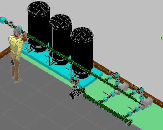 Planos de Sistema hidroneumatico, en Equipos de bombeo – Máquinas instalaciones
