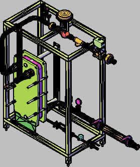 Planos de Skid para sistema de calentamiento mediante vapor en acero inoxidable, en Calefacción – Climatización