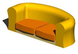 Planos de Sllón 3d, en Sillones 3d – Muebles equipamiento