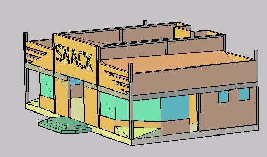 imagen Snack 3d, en Comedores - Proyectos